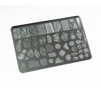 Пластина для стемпинга Lesly 9,5х14,5см - Factura 1