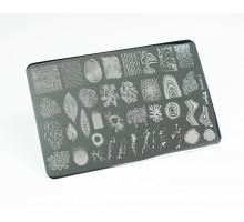 Пластина для стемпинга Lesly 9,5х14,5см - Factura 2