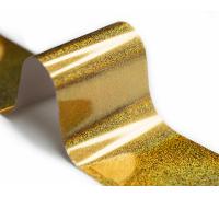 Фольга для стемпинга Lesly -  золотая голография