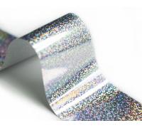 Фольга для стемпинга Lesly -  лазерное серебро