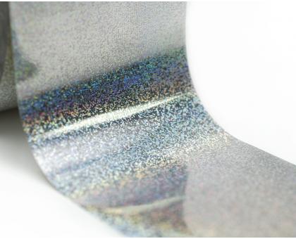 Фольга для стемпинга Lesly -  серебряная голография