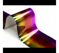 Фольга для стемпинга Lesly -  голографический градиент yellow-red-lilac