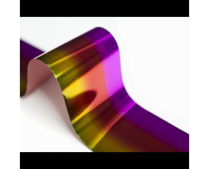 Фольга для стемпинга Lesly -  градиент lilac-red-yellow
