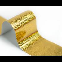 Фольга для стемпинга Lesly -  золотая волна