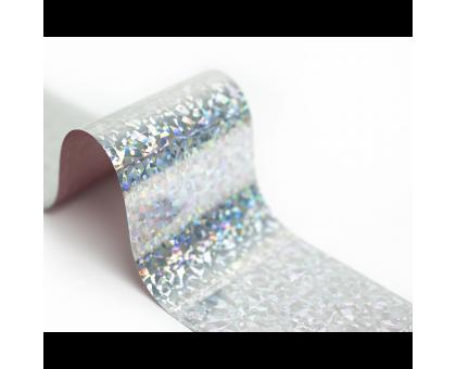 Фольга для стемпинга Lesly -  серебристый кристалл