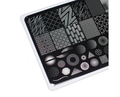 Пластина для стемпинга Lesly 8x12см - Dots 1