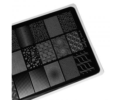 Пластина для стемпинга Lesly 8x12см - Dots 2