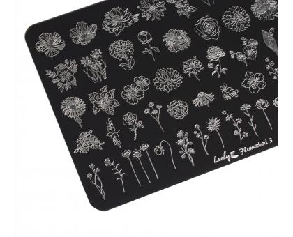 Пластина для стемпинга Lesly 9,5х14,5см- Flowerbed 3