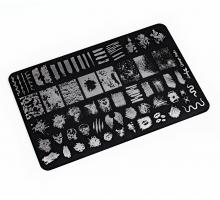 Пластина для стемпинга Lesly 9,5х14,5см - Grunge Style