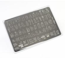Пластина для стемпинга Lesly 8x12см - Naked