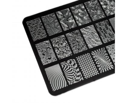 Пластина для стемпинга Lesly 9,5х14,5см - Negative Space 2