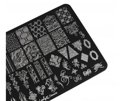 Пластина для стемпинга Lesly 9,5х14,5см - Ornate 1